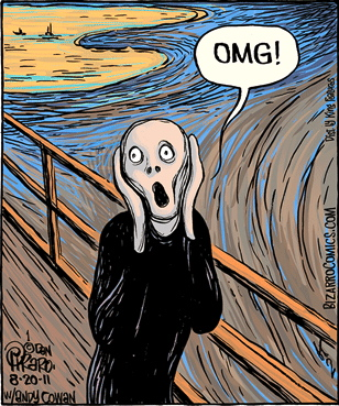 In today   s Bizarro   Edvard Munch   s    The Scream    brought up to    The Scream Edvard Munch Parody